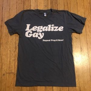 "Vintage American Apparel T ""Legalize Gay"""